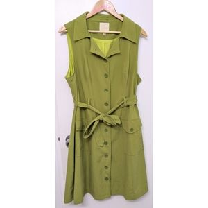 Modcloth retro collared sleeveless dress size 1x